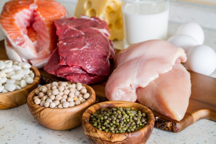 chicken breast, salmon and other sources of protein