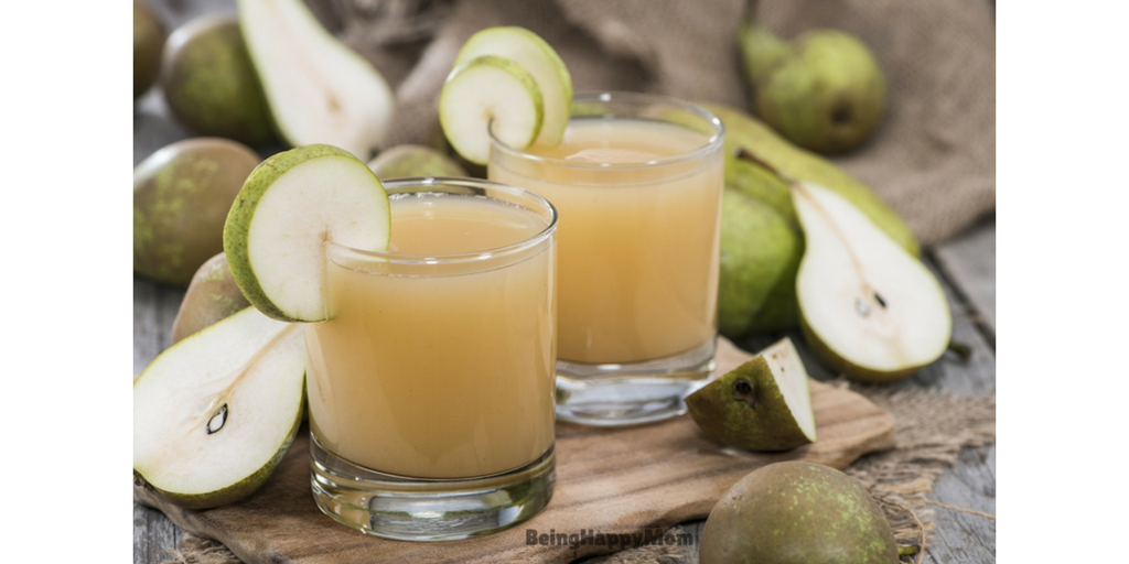 Pear juice in constipation
